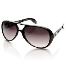 Sonnenbrille Elvis Inspiriert Große Schwarze Rahmen Rauch Gläser Brandneu