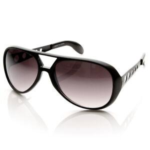 Sunglasses Elvis Inspired Large Black Frames Smoke Lenses Brand New