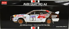 Audi Quattro A2 #3 Mikkola / Hertz 2. Lombardei RAC Rally 1984 Maßstab 1:18