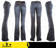Blue Indigo Ladies Minx Draggin Kevlar Lined Jeans Motorcycle Denim Trouser 16