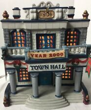 Lemax Lighted Porcelain Village Collection Town Hall Year 2000