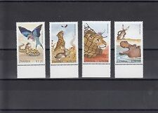 TIMBRE STAMP 4  ZAMBIE  Y&T#526-29 FAUNE LEGENDE NEUF **/MNH-MINT 1990 ~A16