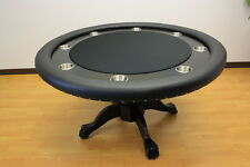 Luxury MRC Poker Table The MYSTIC Round Table Solid Wood Legs