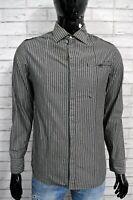 Camicia Uomo G-STAR M Camicetta a Righe Manica Lunga Maglia Shirt Man Grigio
