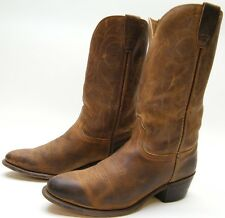 MENS OILED 07080 BRN LEATHER RANCH WORN COWBOY WESTERN BOOTS SZ 10 D 10D