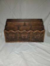 Vintage Lerner Desk Organizer 3 Tier 6 Slot Holder Faux Wood Mail Letter Caddy