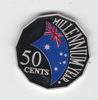 2000 50 cents cent  Millennium Year Coloured PROOF Australia Coin ex PROOF Set
