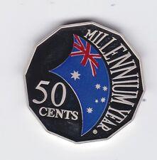 2000 50 cents cent  Millennium Year Coloured PROOF Australia Coin ex PROOF Set