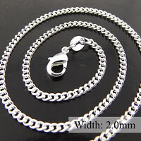 A350 GENUINE REAL 925 STERLING SILVER S/F LADIES FINE PENDANT NECKLACE CHAIN