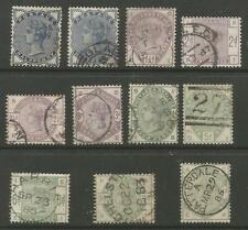SG187-96 THE 1883-4 LILAC AND GREENS SET FINE TO VERY FINE USED CAT £1800+