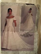 David's Bridal Wedding Gown Sz10 Purse Veil EUC