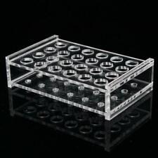 24 Holes Test Tube Rack Testing Tubes Holder Storage Plastic Lab Supplies New
