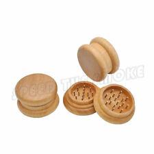 1 X Real Wood Herb Herbal Tobacco Grinder Hand Muller Nail Teeth Spice 2 Layers