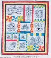 Gardener's Delight - pieced and stitchery wall quilt PATTERN - Bobbie G