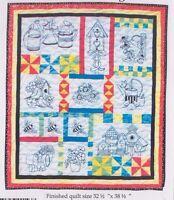 Gardener's Delight - pieced and stitchery wall quilt PATTERN - Bobbie G