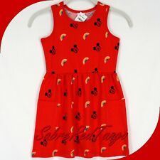 NWT HANNA ANDERSSON DISNEY MICKEY MOUSE SUNDRESS MICKEY RED PRINT 160 14 16