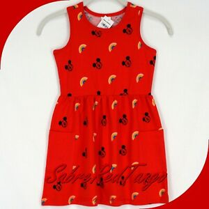NWT HANNA ANDERSSON DISNEY MICKEY MOUSE SUNDRESS MICKEY RED PRINT 90 3T 3