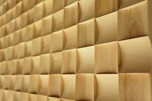 Wandverkleidung 3D Echtholz Verblender Wandpaneele Dekorplatte Medio Libau