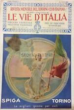 CICLISMO_BICICLETTE_GOMME SPIGA_TORINO_ALLEGORIA DELL'ITALIA_TRICOLORE_CALVIZIE