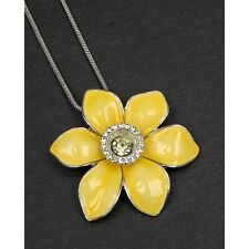GIFT BOXED Equilibrium Yellow Welsh Daffodil Necklace Friend Family Wales Flower