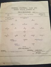 Arsenal V QPR London Youth Cup Final 8/05/1965 Original Match Programme