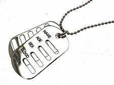 Dog Tag Pendant Dog Tags For Men Dog Tag Necklace Mens Jewellery 114156