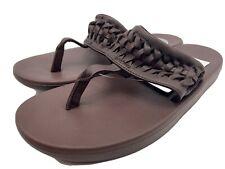 Nike Women's Size 7 Bella Kai 2 Leather Thong Flip Flops Brown- New in Box!