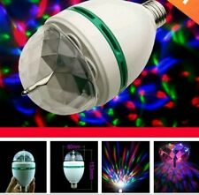 Disco Bulb 3W Crystal Rotate LED Festival Decore Lights Party Diwali Christmas