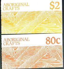 1987 AUSTRALIAN ABORIGINAL CRAFTS 80c and $2 STAMP BOOKLETS MUH