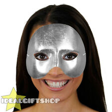 SILVER TOP HALF FACE PHANTOM MASK VENETIAN MASQUERADE PARTY DRAMA SCHOOL THEATRE