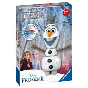 New Ravensburger Disney Frozen 2 Olaf 3D 54pc Puzzle Snowman Design