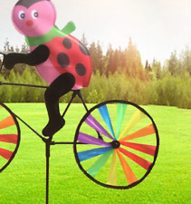 Yard Garden Stake Lawn Bike Windmill Decoracion Creative Pinwheel Toys