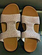 FITFLOP Sparkly Purple Slide Sandal Flip-Flops  Women's Size 10