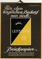 Werbeschild, Leitstern, Briefpapier, um 1930.