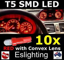 10X 12V T5 LED RED CAR WEDGE DASHBOARD DASH GAUGE LIGHT BULB 4WD UTE VAN TRUCK