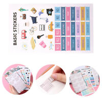 4PCS 2021 Calendar Sticker Monthly Scrapbooking Stationery Decals Diary Journal