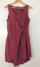 Anna Catherine Women's Dress Size S Small 8 10 SILK Red Summer Sleeveless