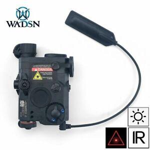 WADSN PEQ 15 LA5 LED White Flashlight Red Laser IR Pointer Device - BLACK