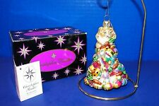 Christopher Radko Egg Scramble Blown Glass Ornament w Tag Easter Bunny Rabbit