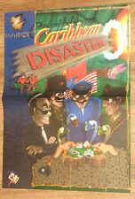 Caribbean Disaster & Gloom Deluxe Amiga very rare mini Retro Poster 30x41cm