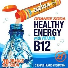 ZipFizz All Natural  Energy Drink Mix - ORANGE SODA (30 Tubes) * FREE SHIPPING *