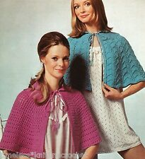 VINTAGE KNITTING PATTERN FOR BED CAPE / JACKET / SHAWL / WRAP - 2 DESIGNS