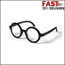 c6f6d3fcac Harry Potter Glasses Boy Wizard Geek Nerd Wally Hogwart Black Round Fancy  Dress