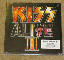 KISS ALIVE 3 BLUE COLORED VINYL #1,421 FACTORY SEALED