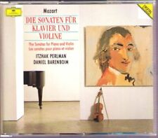 Itzhak PERLMAN & Daniel BARENBOIM: MOZART 16 Violin Sonata 4CD DG Violinsonaten