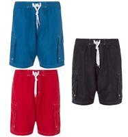 Mens Plus Size Mesh Lined Long Plain Swim Shorts