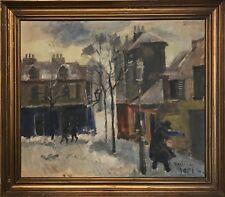 Mogens Vantore (1895-1977): SNOWY, WINDY PARIS