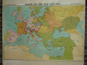 Europe and Near East 1519 Wall Map
