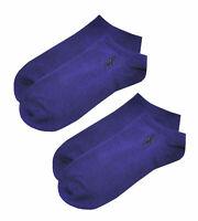 POLO RALPH LAUREN Mens 2 PAIRS Purple Low Cut Trainer Socks > UK 6-8 EU 39-42