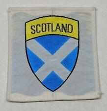 Vintage Scotland Flag Patch Badge Scottish White Cross